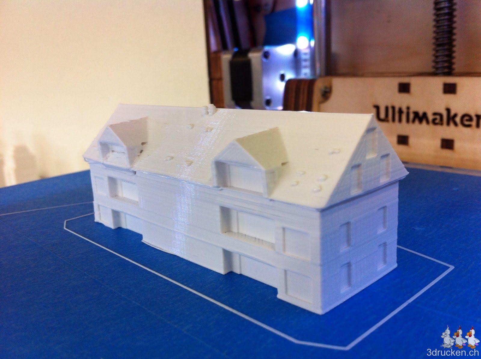 Testdruck Haus Modell