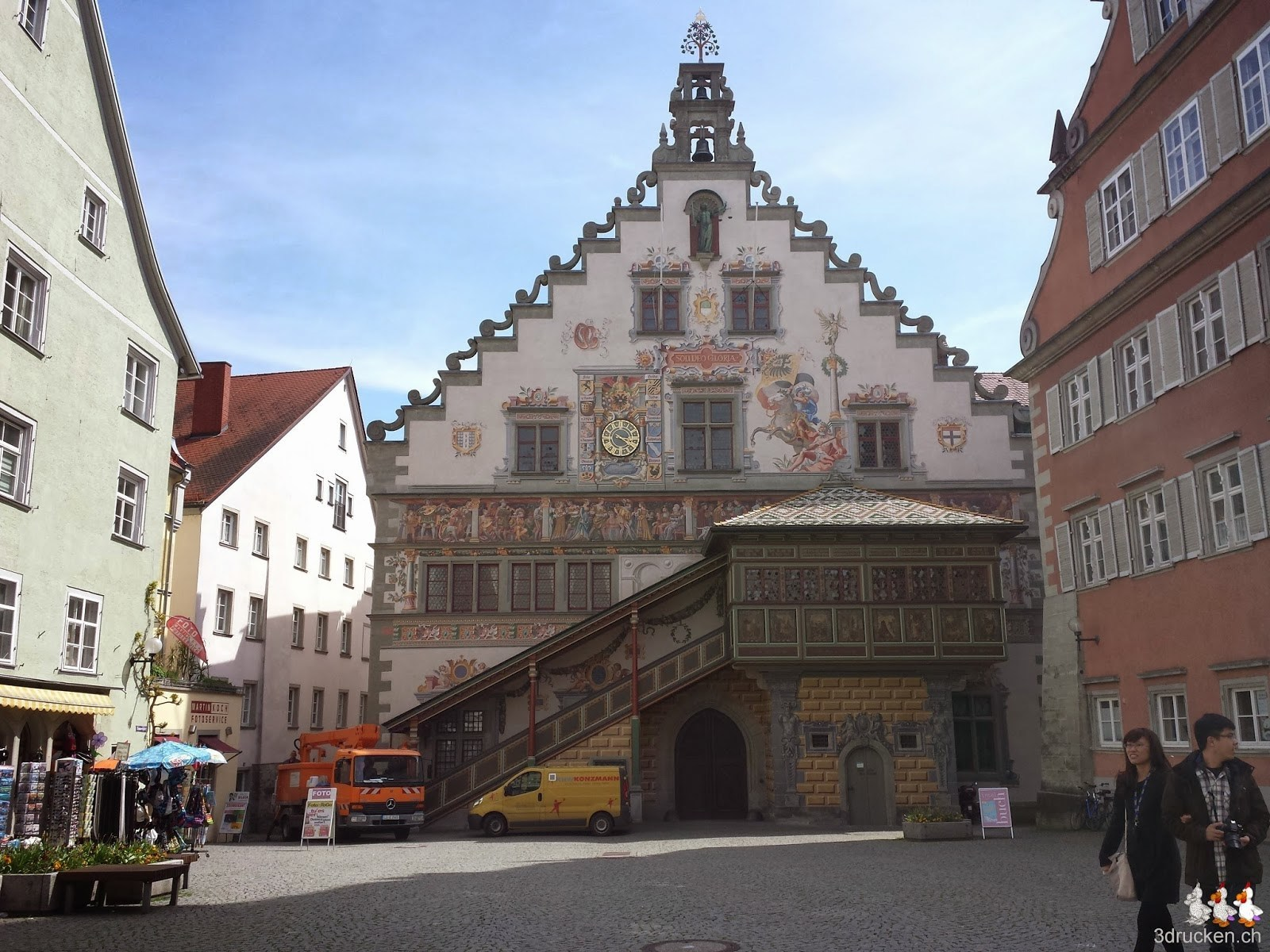 Foto des schönen Rathauses von Lindau
