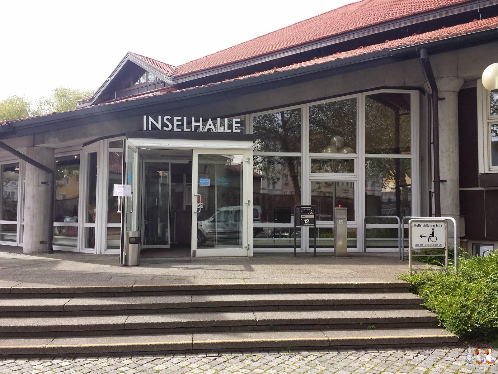 Foto des Eingangs zur Inselhalle in Lindau, wo das 3D - Forum statt fand