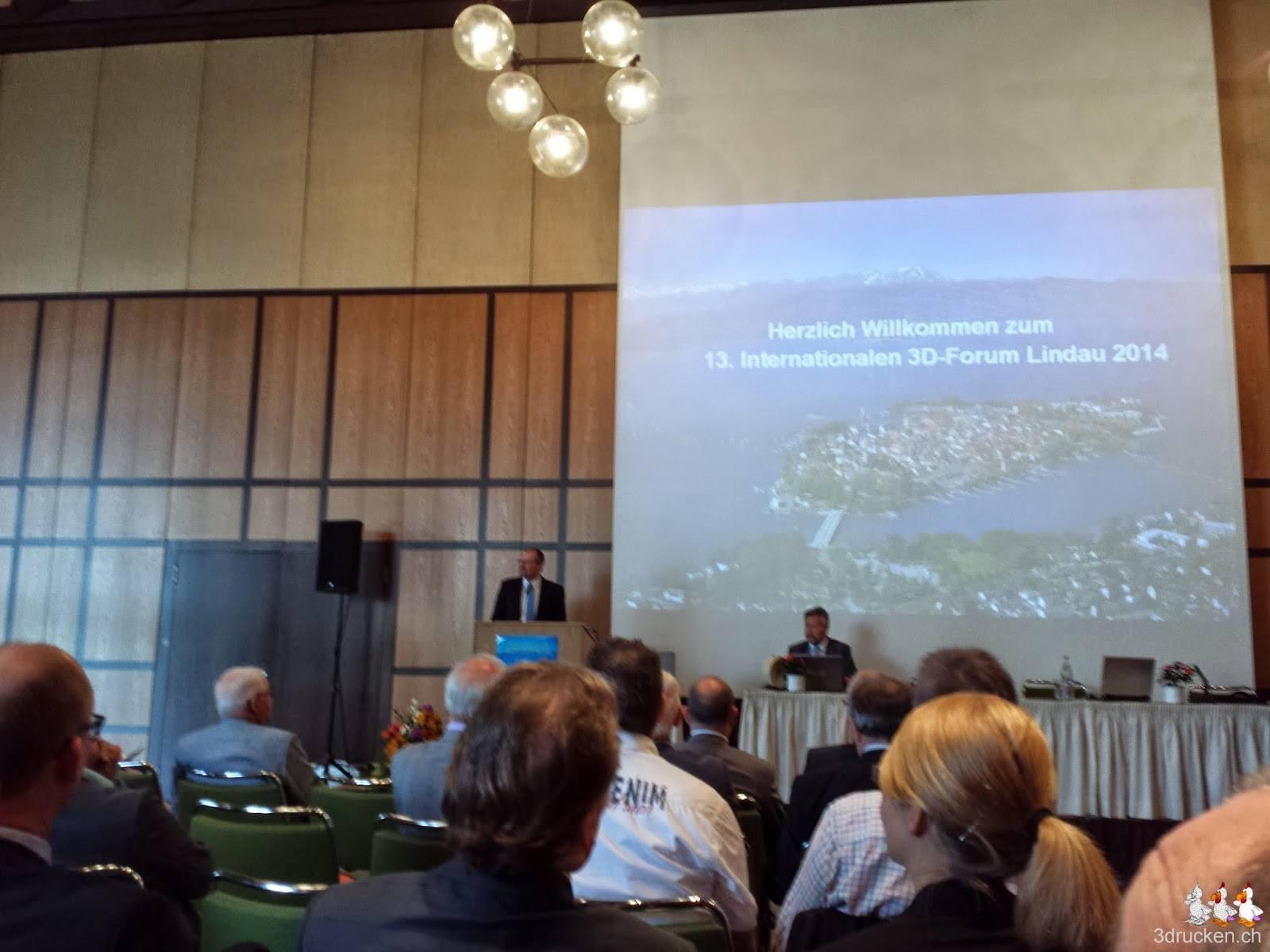 Foto von der Eröffnungsrede am 3D - Forum in Lindau