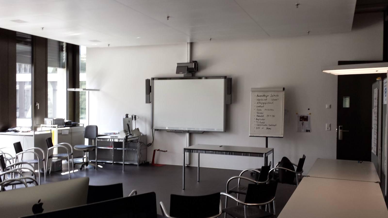 Foto des Schulungsraums von Imedias an der PH FHNW