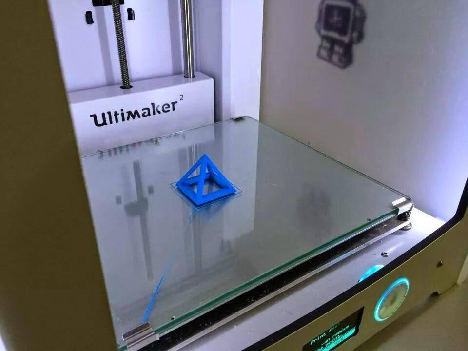 Foto der erfolgreich gedruckten Testpyramide im Ultimaker 2