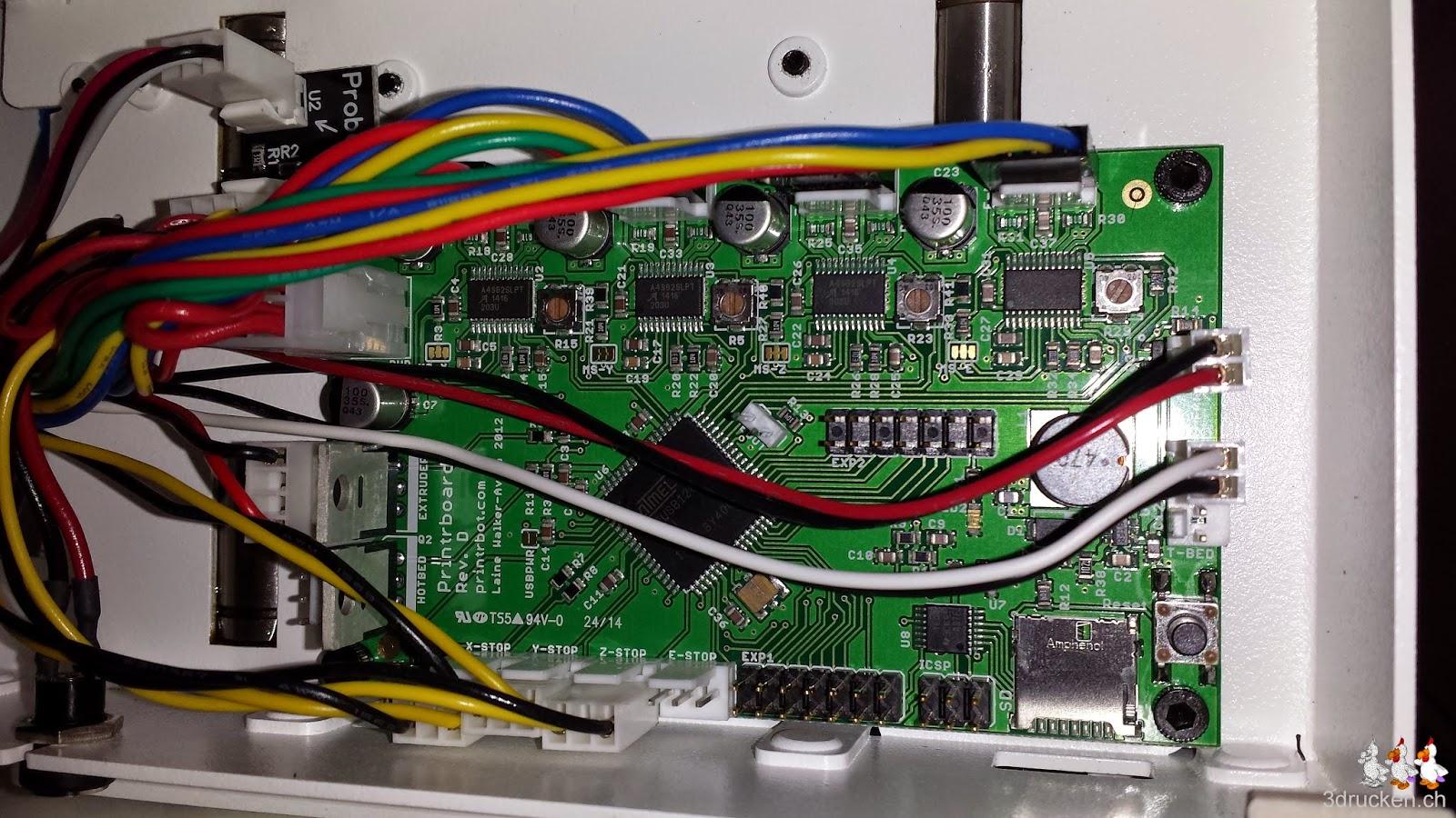 Foto der Elektronik auf der Unterseite des Printrbot Simple Metal