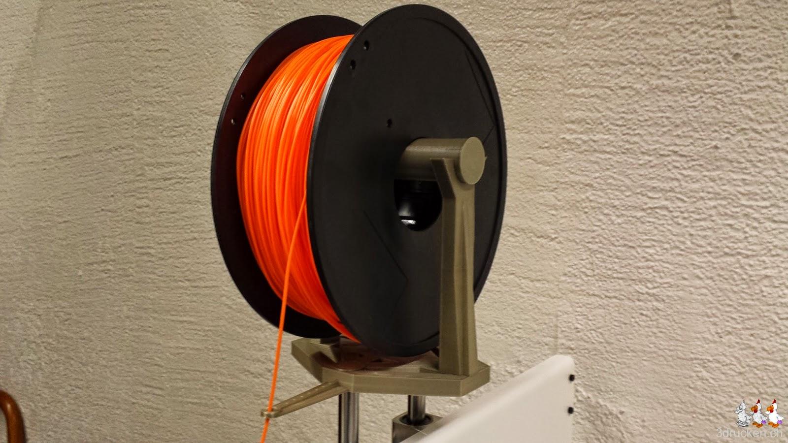 Foto der zweiten stabileren Rollenhalterung am Printrbot Simple Metal