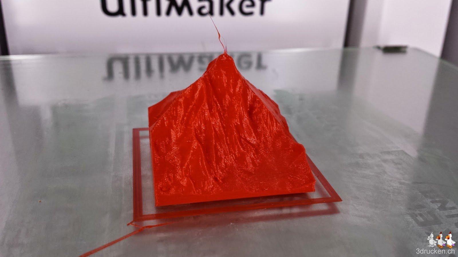 Foto des zweiten erfolgreichen Druckversuchs des Matterhorn Giveaways auf dem Ultimaker 2