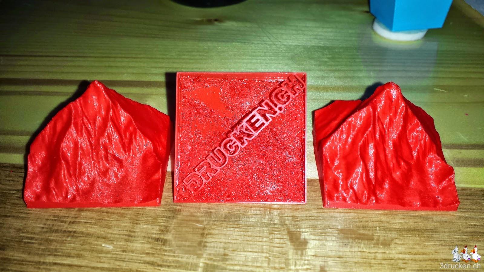 Foto der endgültigen Version des Matterhorn Giveaways mit sauberer Schrift auf der Unterseite