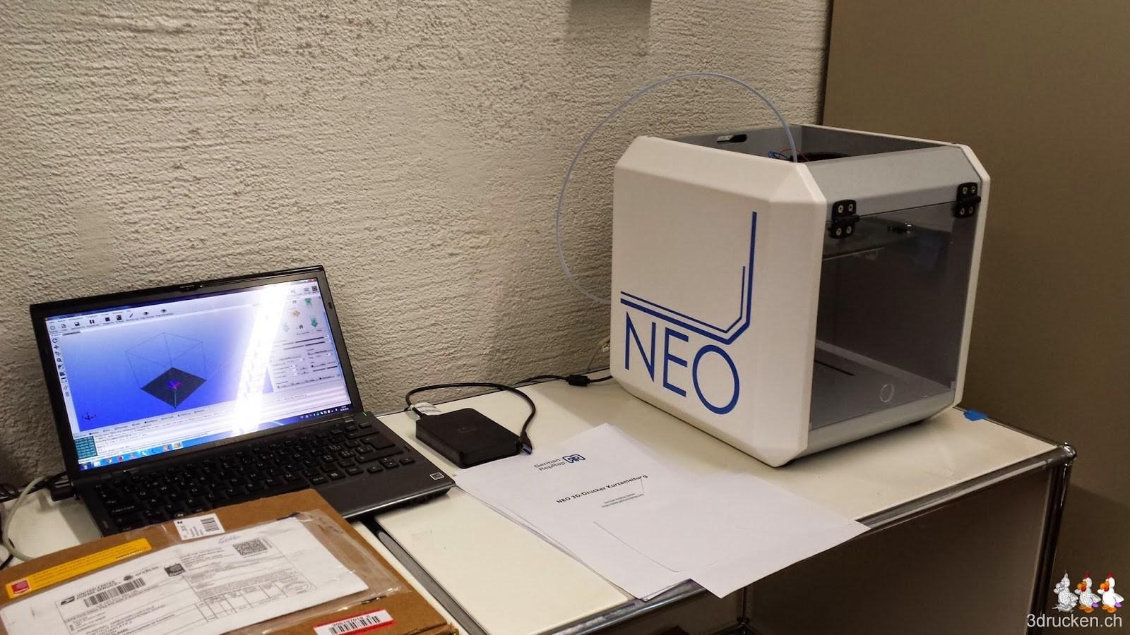 Foto unseresTestplatzes für neue 3D-Drucker im Test