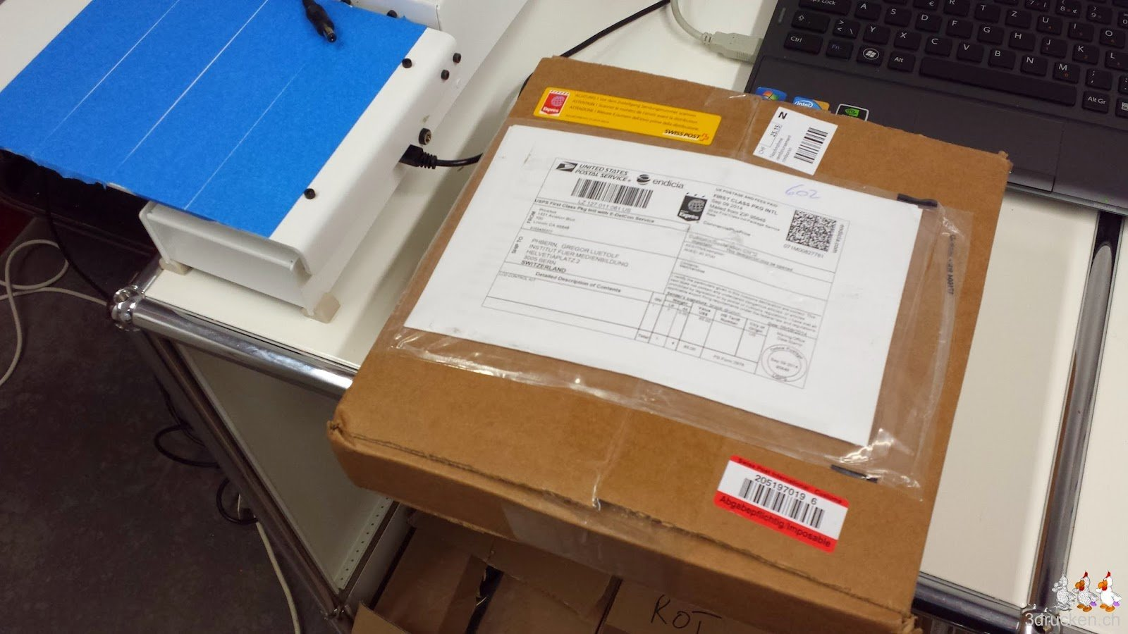 Foto des Pakets mit dem LCD Control Kit für den Printrbot Simple Metal