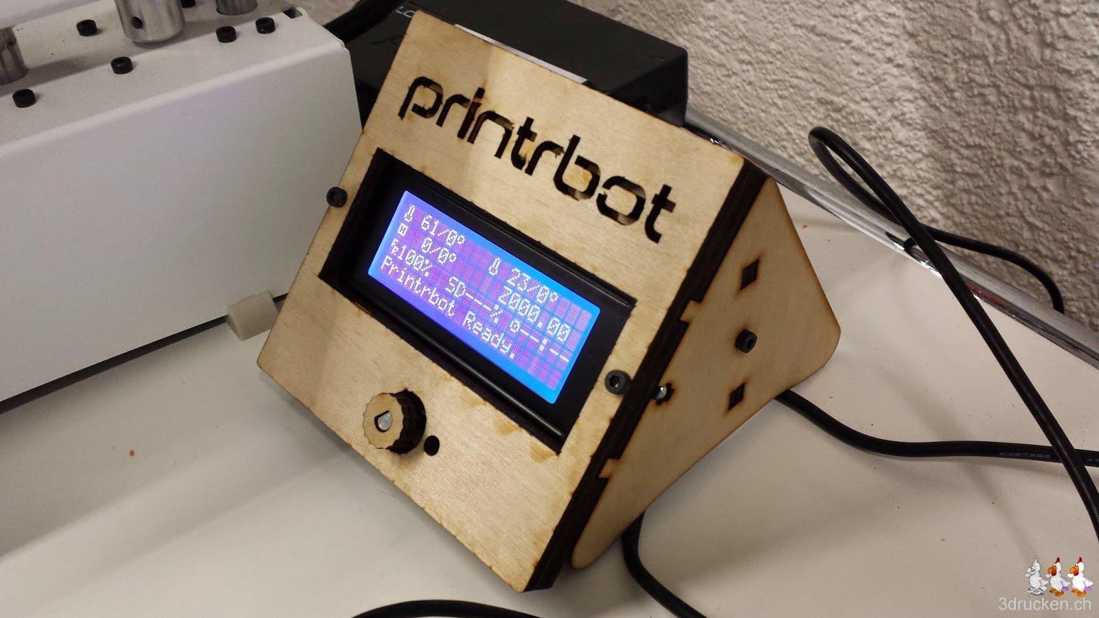 Foto des LCD am Printrbot Simple Metal von der Seite aufgenommen
