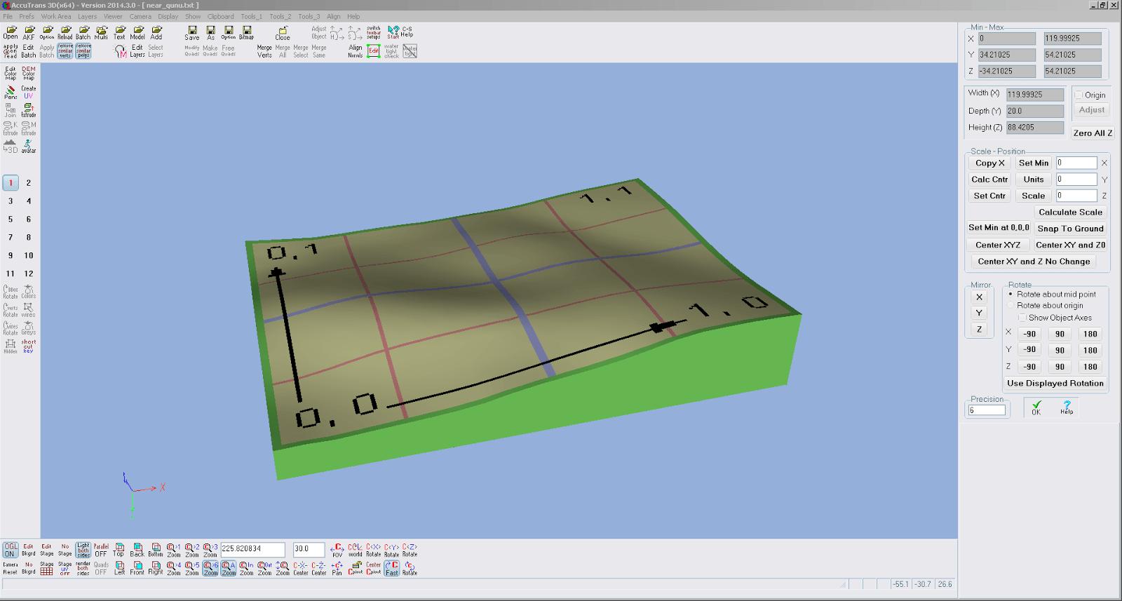 Screenshot der Relieferstellung in AccuTrans 3D