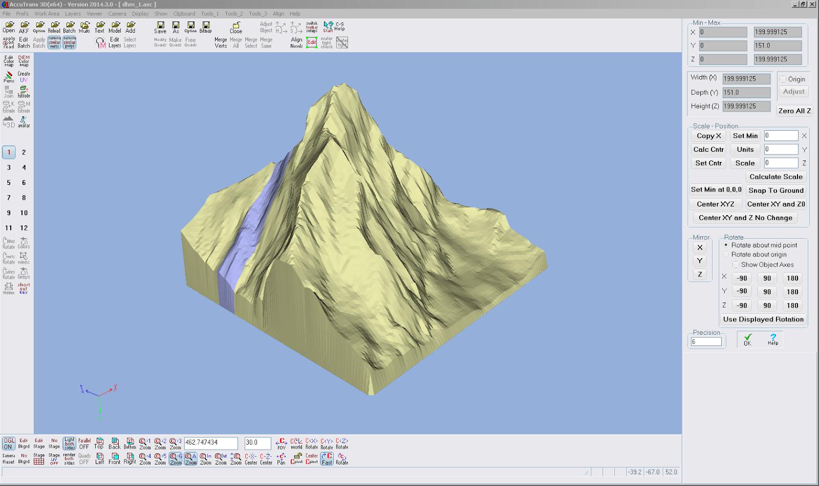 Screenshot aus AccuTrans 3D vom Drehen des Modells
