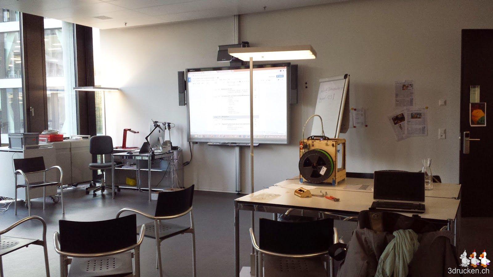 Foto des Arbeitsraums an der PH FHNW in Brugg