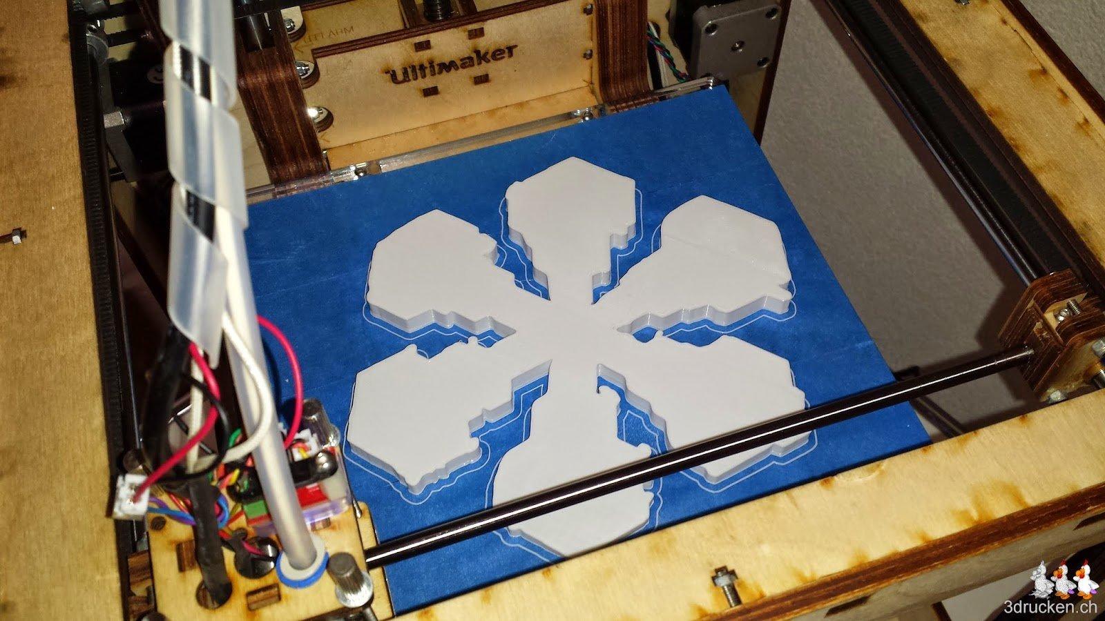 3D gedruckter Dendritischer Stern mit Verbreiterungen der Astenden