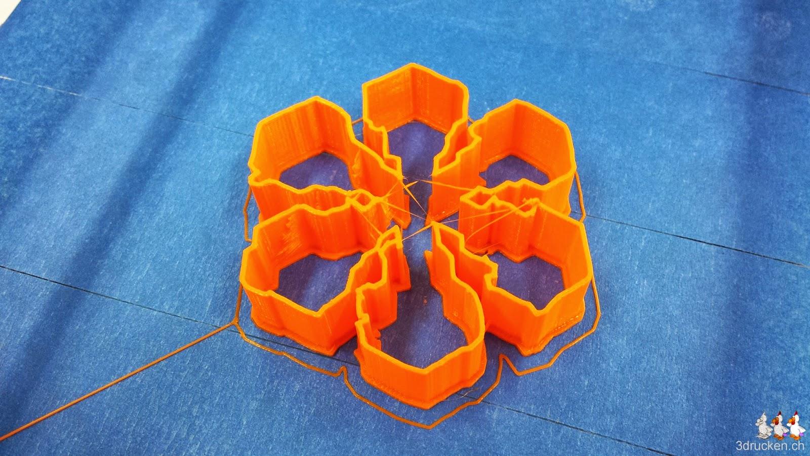 Fertig gedruckte Guezliform des Dendritischen Sterns mit Verbreiterungen der Astenden