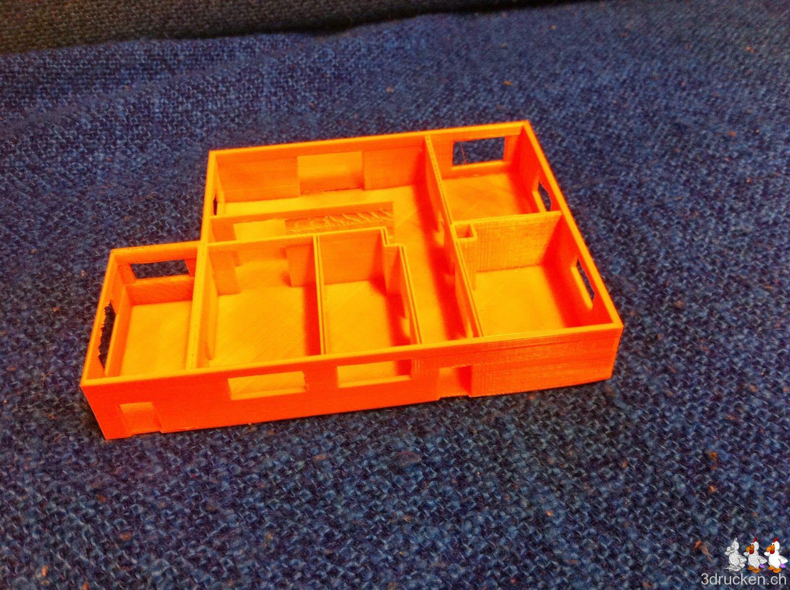 Foto des fertig gedruckten Wohnungsmodells