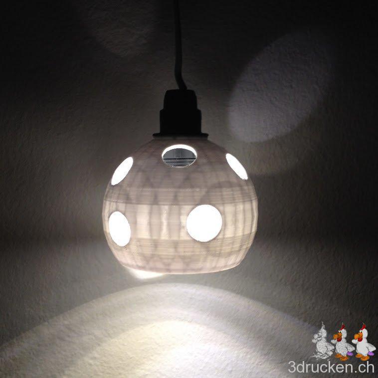 Led lampenschirm aus tinkercad gedruckt 3d drucken for Led lampenschirm