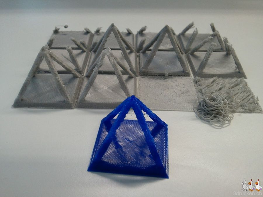 Blaues Filament im Ultimaker