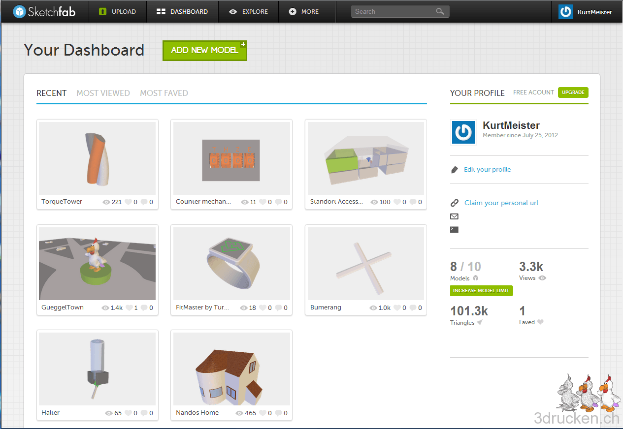 3D-Modelle im Browser