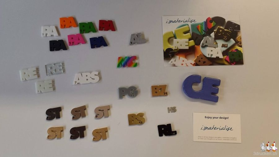 Materialbeispiele von i.materialise