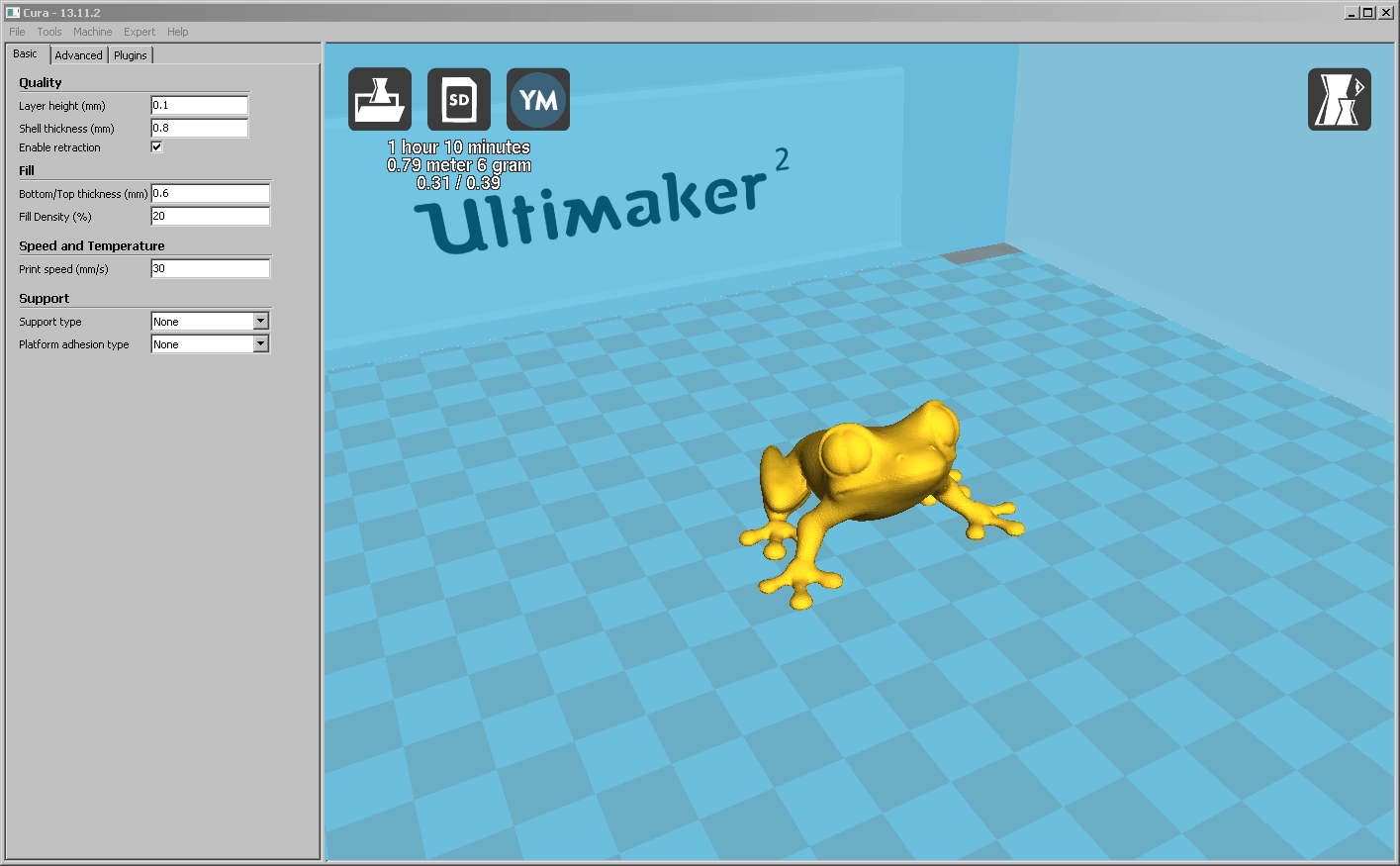 Tuning am Ultimaker 2 mit Cura